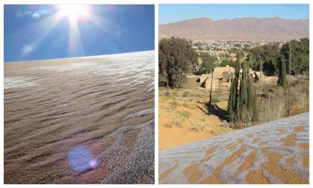 ¿Profecía de Isaías?: desiertos amanecen cubiertos de nieve