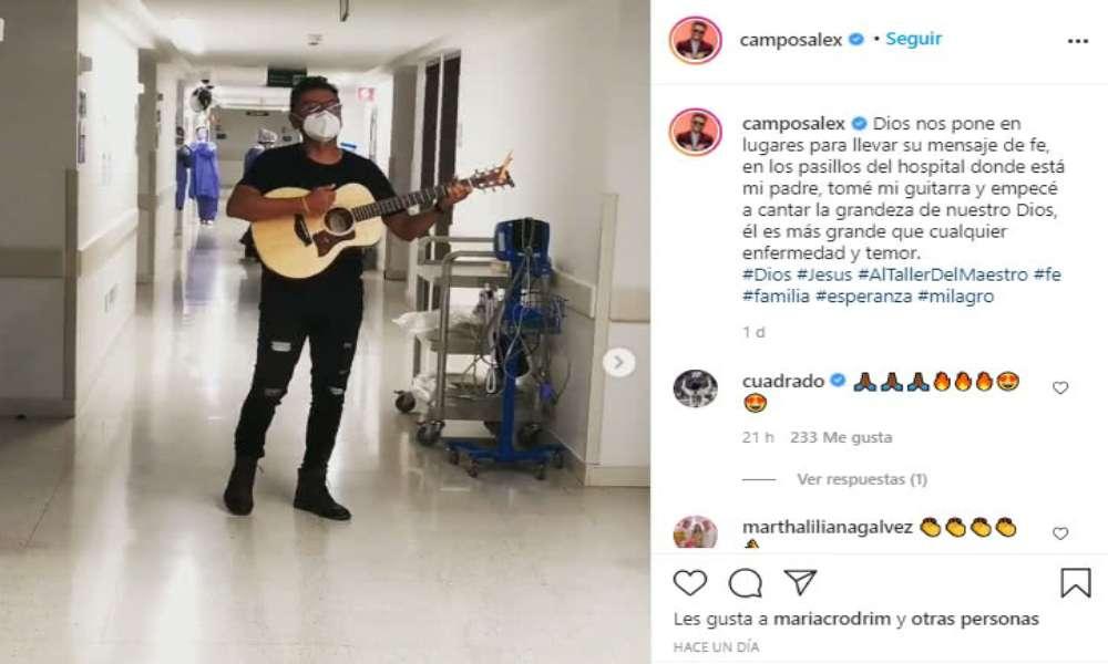 Alex Campos canta en hospital donde su padre superó el Covid-19