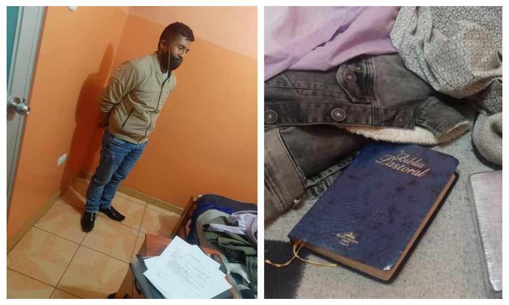 Capturan a falso pastor que vendía droga camuflada en la Biblia
