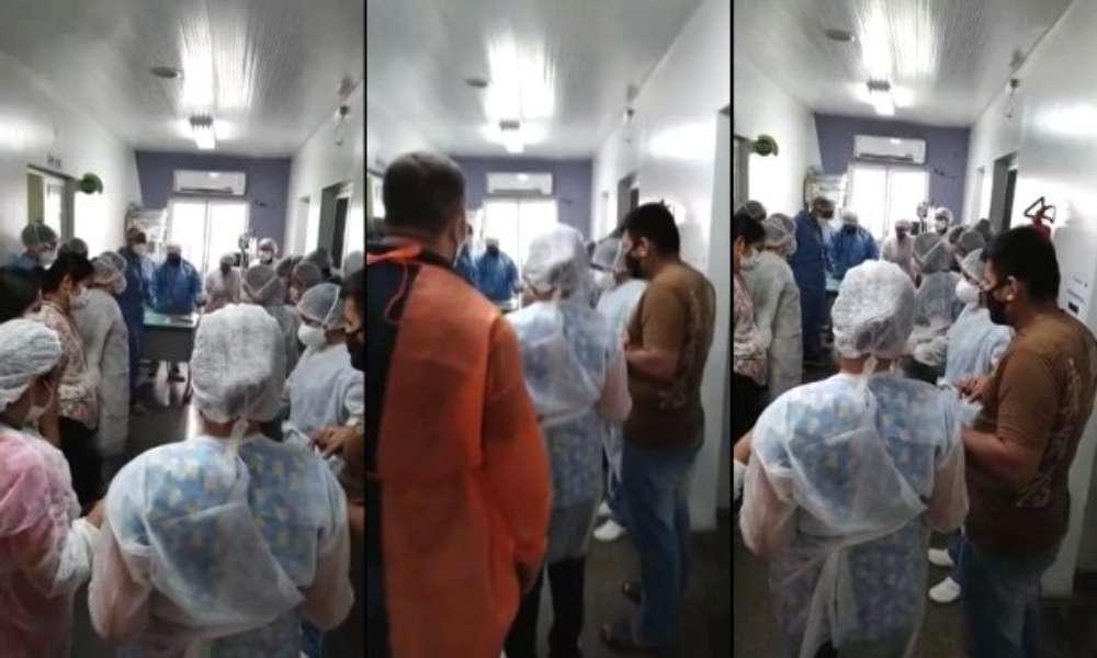 Médicos y enfermeras claman a Dios tras colapsar hospitales públicos y privados