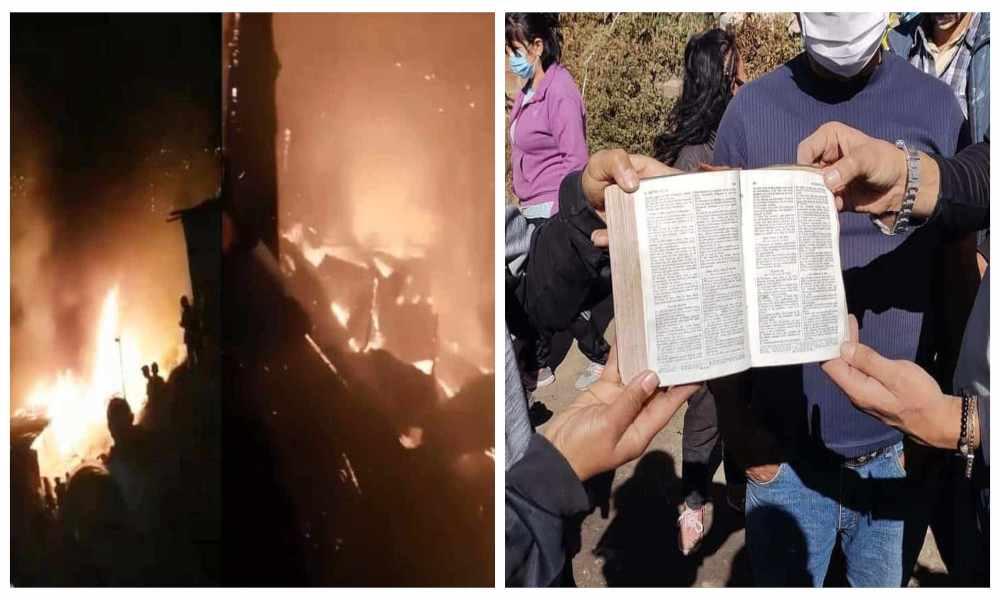 Biblia permaneció intacta tras incendio que destruyó siete viviendas
