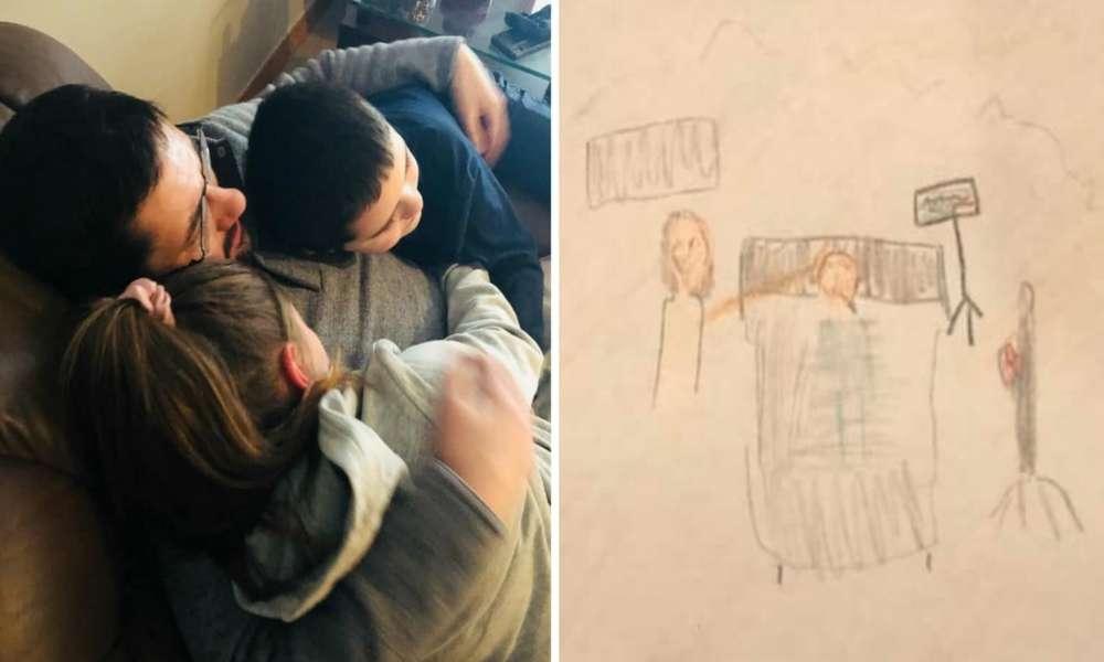 Niña dibuja a Jesús sanando a su padre de Covid-19 días después es dado de alta