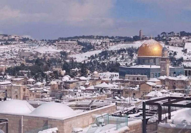Tormenta invernal invade a Jerusalén tras 8 años sin recibir gran nevada