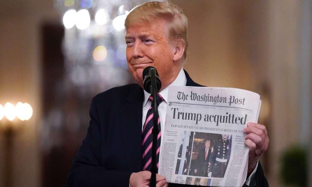 """Trump agradece a """"ciudadanos amantes de Dios"""" tras ser absuelto por el Senado"""