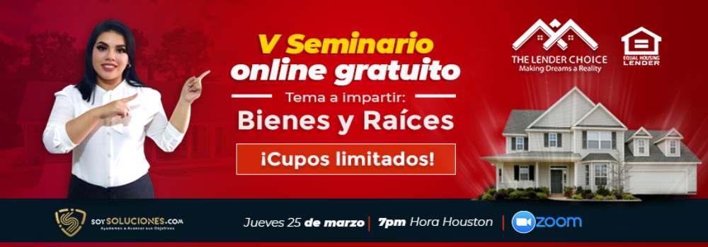 The Lender Choice anuncia su V seminario online de bienes y raíces