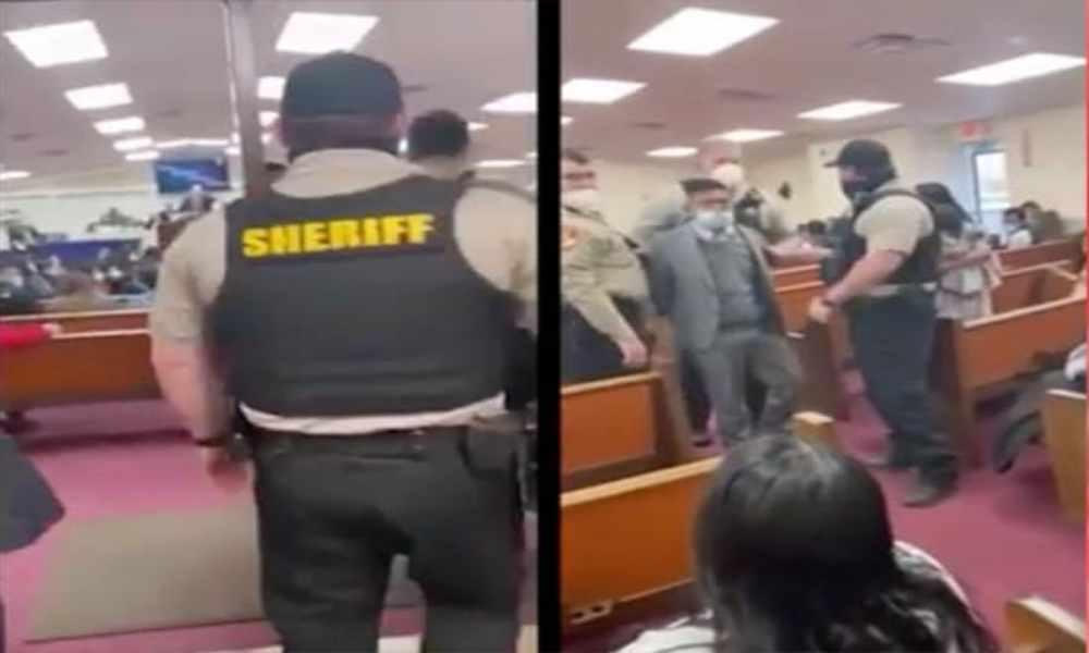 Pastor pide a la policía sacar y arrestar a un miembro de su iglesia