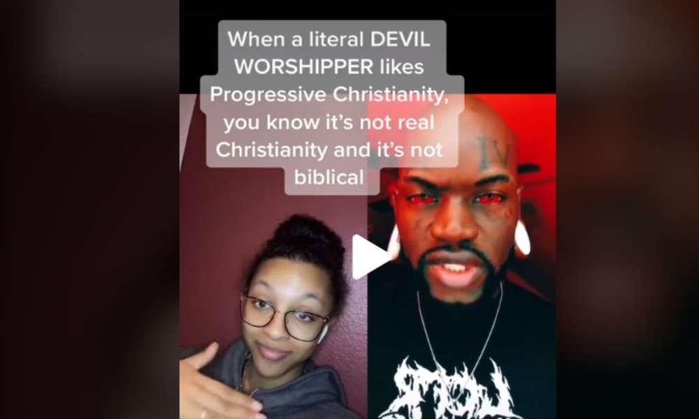 Satanista TikToker agradece a cristianos progresistas porque son lo que necesitan