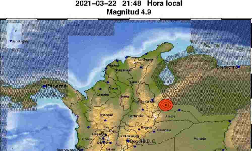 Fuerte temblor en Venezuela se sintió en ciudades de Colombia