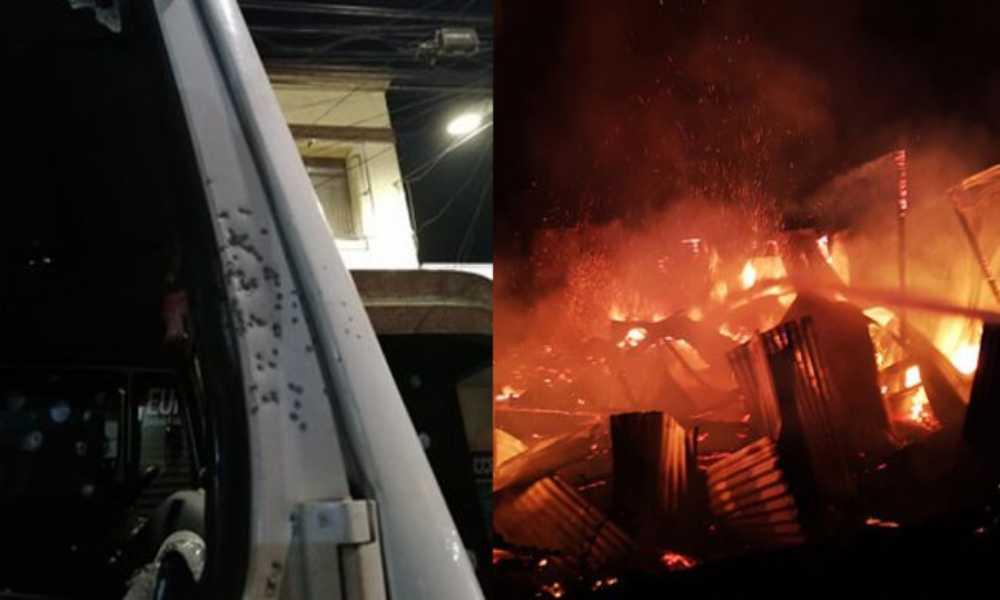 Bomberos baleados cuando intentaban apagar incendio en una iglesia en Chile