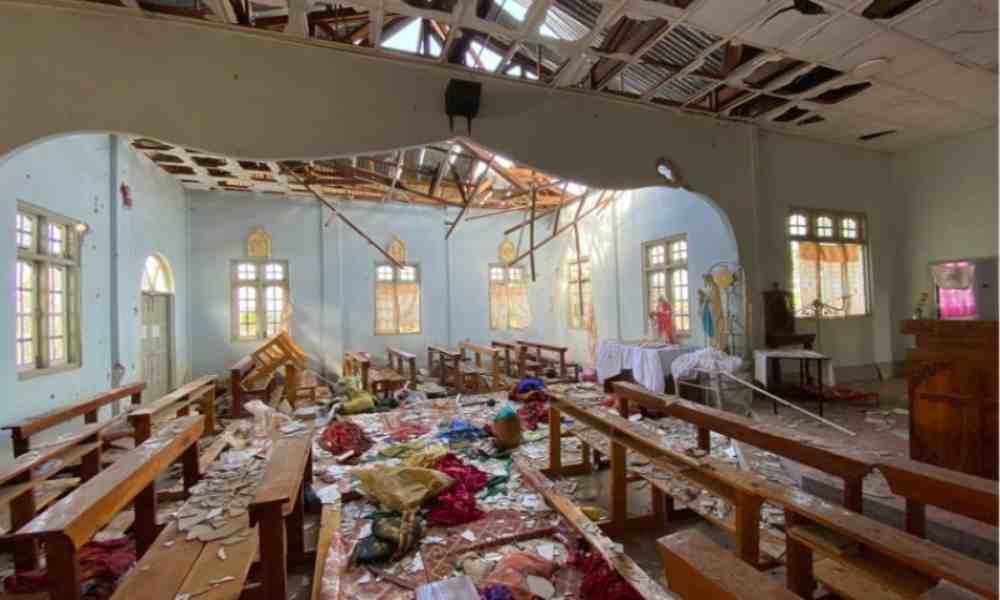 Bombardeo en una iglesia en Birmania deja dos muertos y heridos