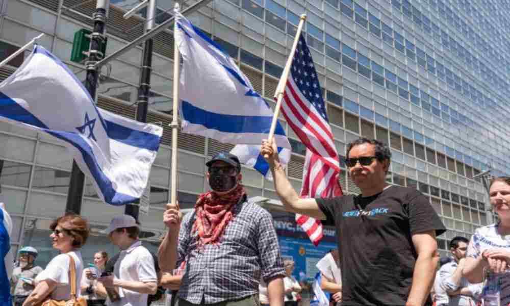 Estadounidenses salieron a las calles a respaldar al Estado de Israel