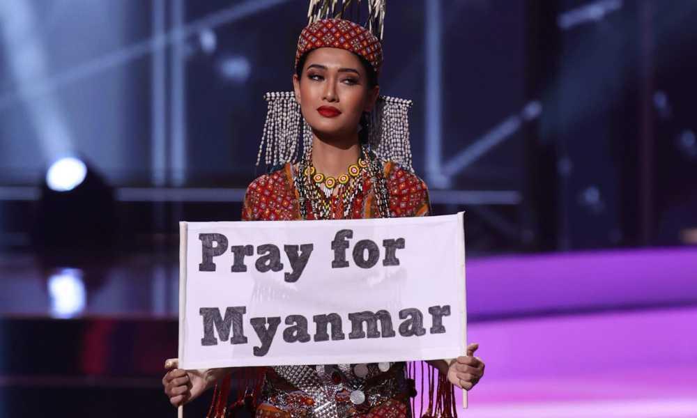 Miss de Myanmar alza su voz ante la dictadura y pide oraciones por su país
