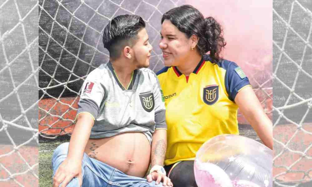 """Activista trans de Ecuador comparte fotos de su """"esposo embarazado"""""""