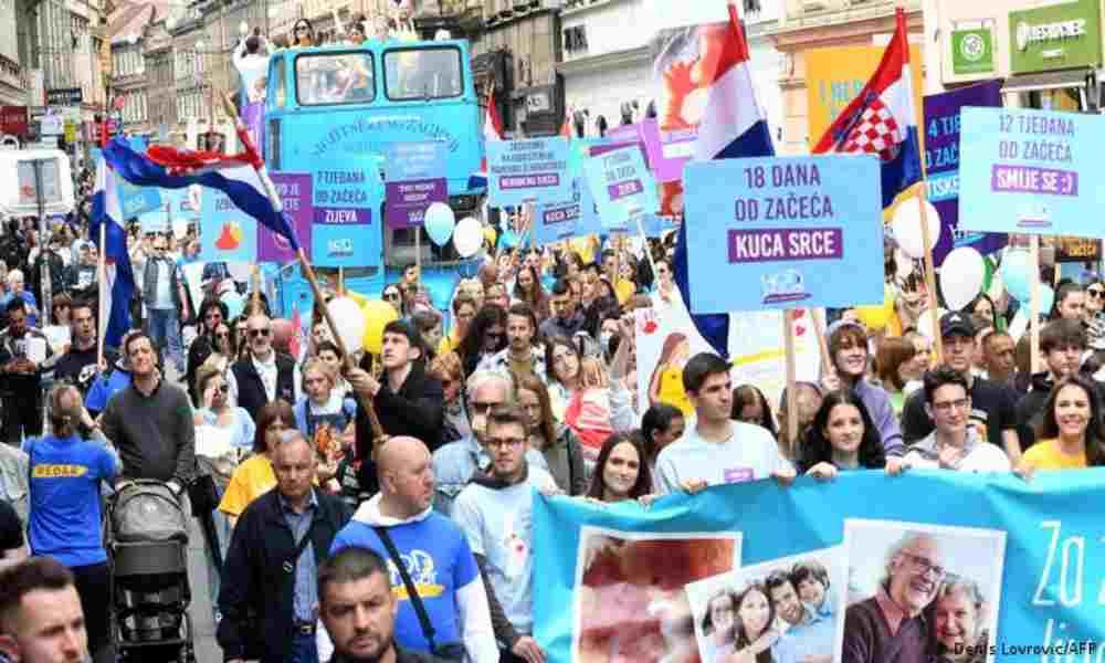 Croacia: miles de personas salen a las calles para rechazar el aborto
