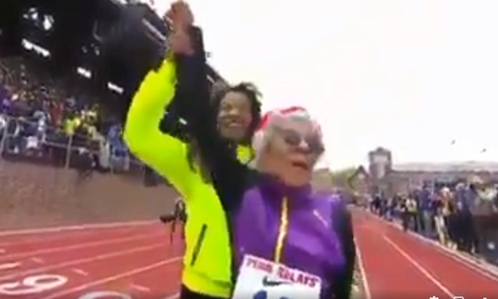 «El deporte es mi medicina»:  atleta de 104 años logra correr 100 metros planos