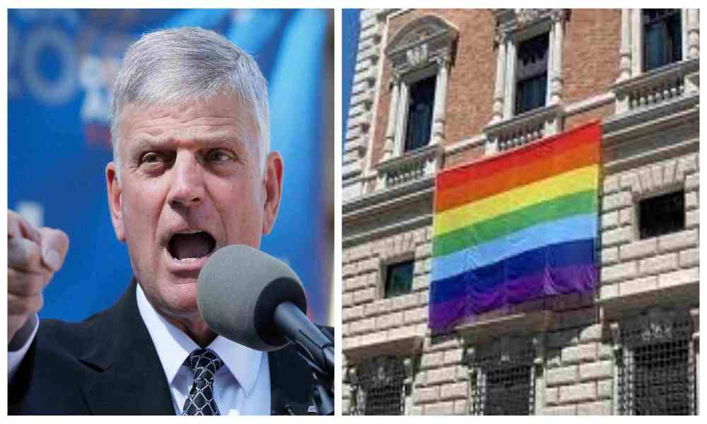 «Es una vergüenza»: Graham a gobierno Biden por izar bandera LGBT en embajada del Vaticano