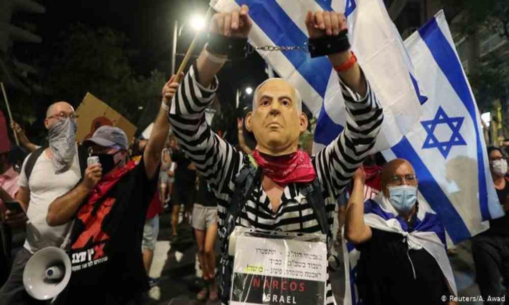 Jerusalén: miles celebran en vísperas del fin del mandato de Netanyahu