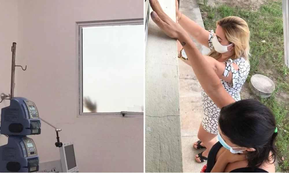 Hermanas oran diariamente fuera de un hospital para que su madre supere el Covid-19