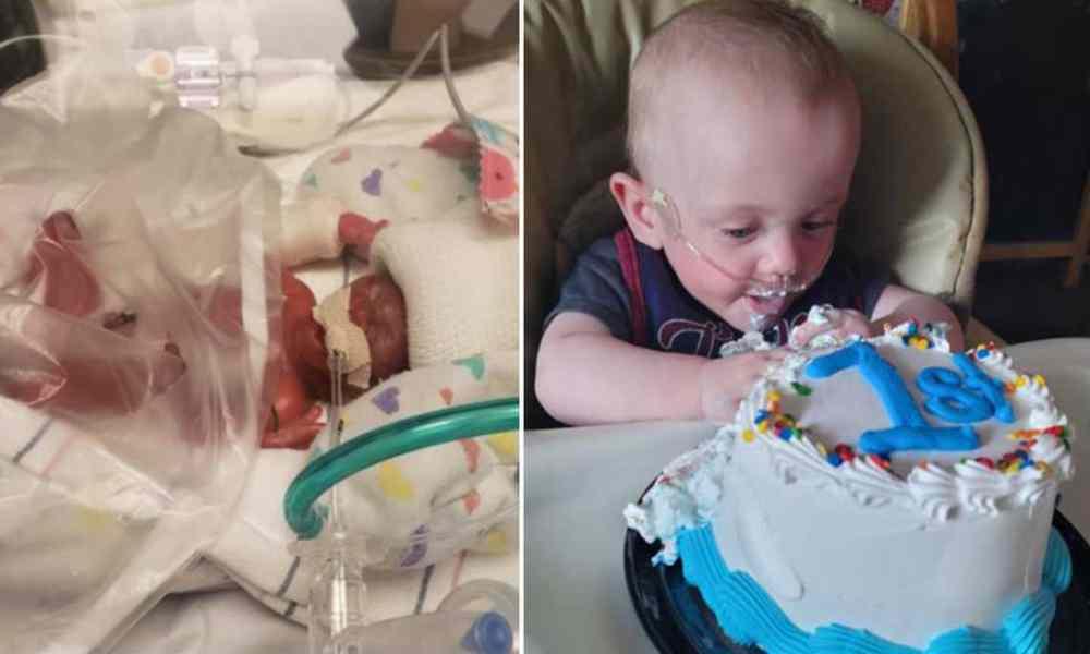 Bebé milagro, nació a los 4 meses y sobrevivió gracias a la fe en Dios