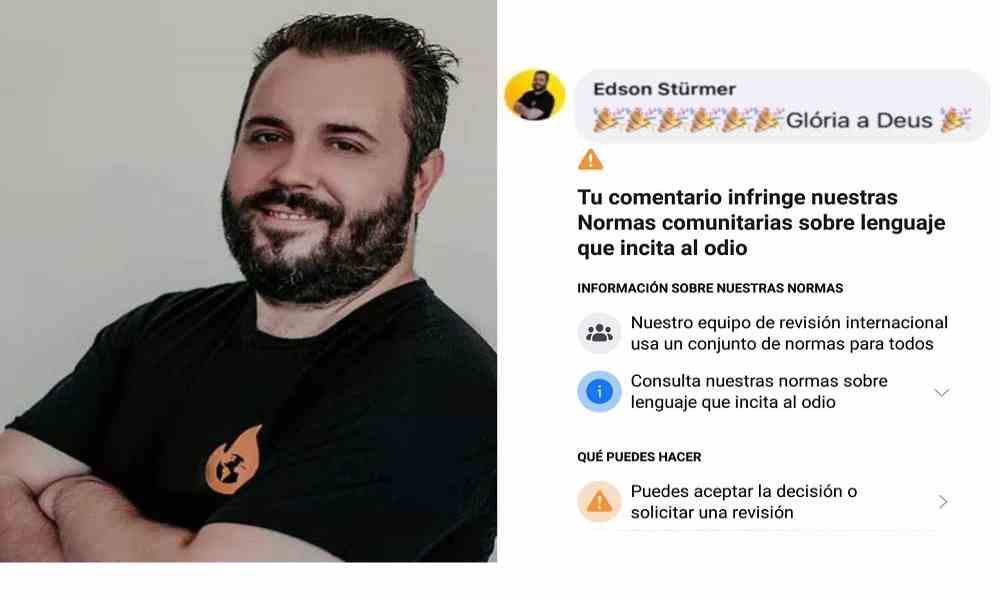 """Pastor comenta """"Gloria a Dios"""" y es censurado por Facebook"""