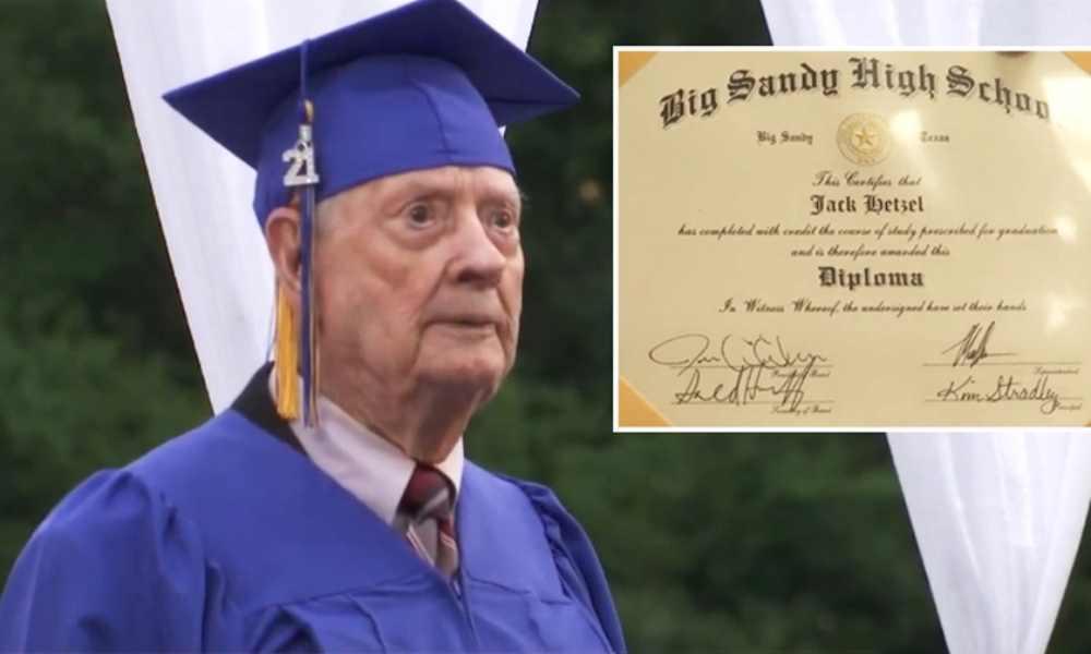 Pastor cumple su sueño al obtener diploma de secundaria a los 99 años