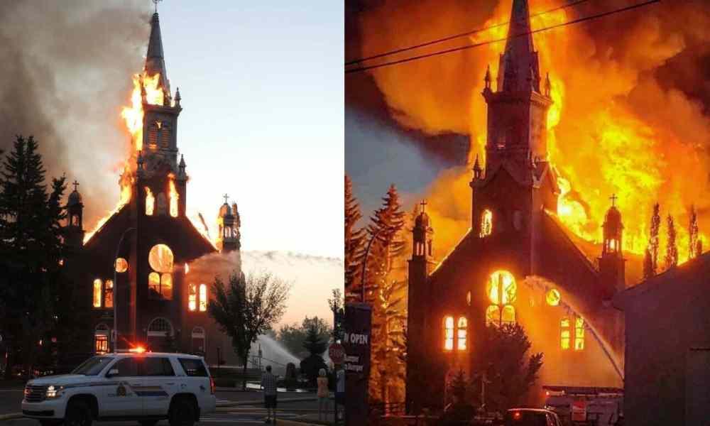 45 templos incendiados dejan las protestas contra la Iglesia en Canadá