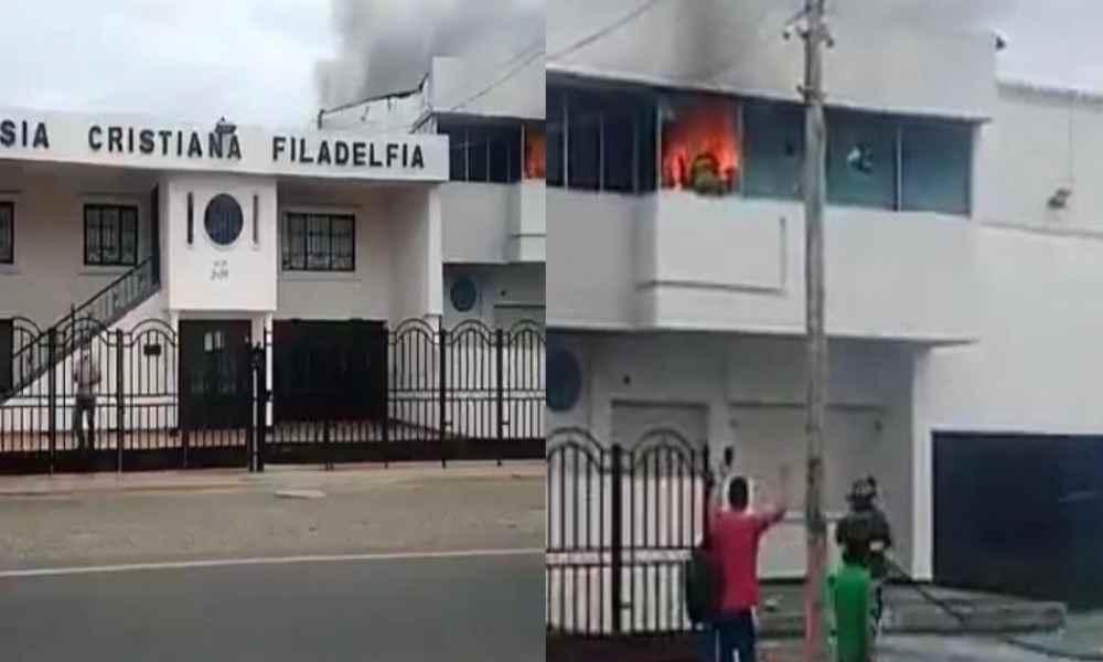 Colombia: Atacan con piedras y bombas molotov a una iglesia evangélica