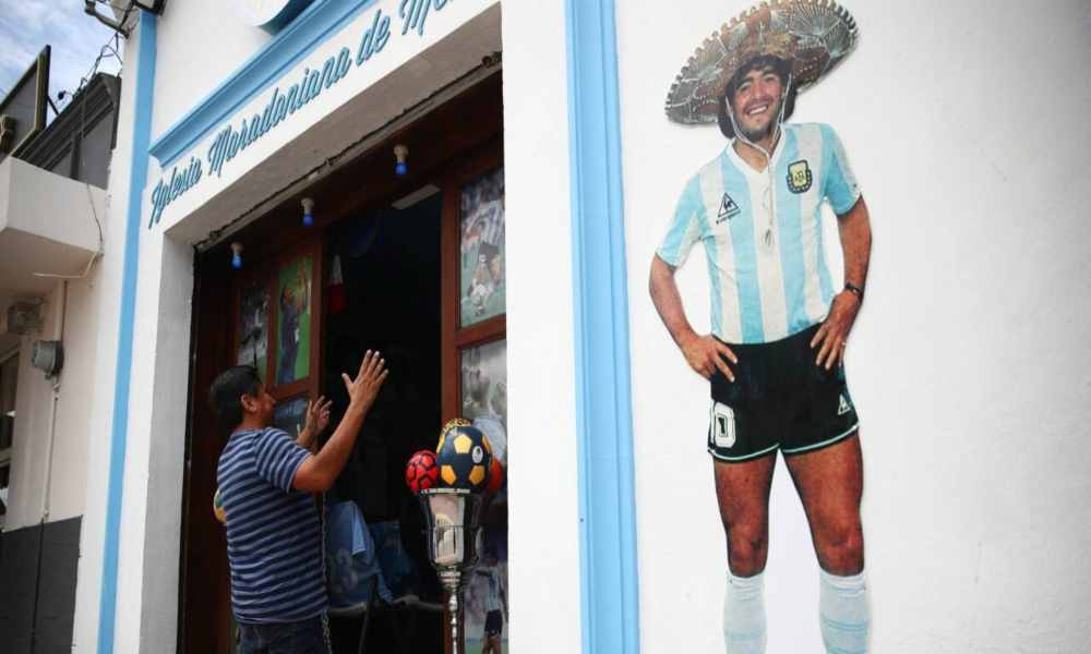 Abren una iglesia en México para rendirle culto a Maradona