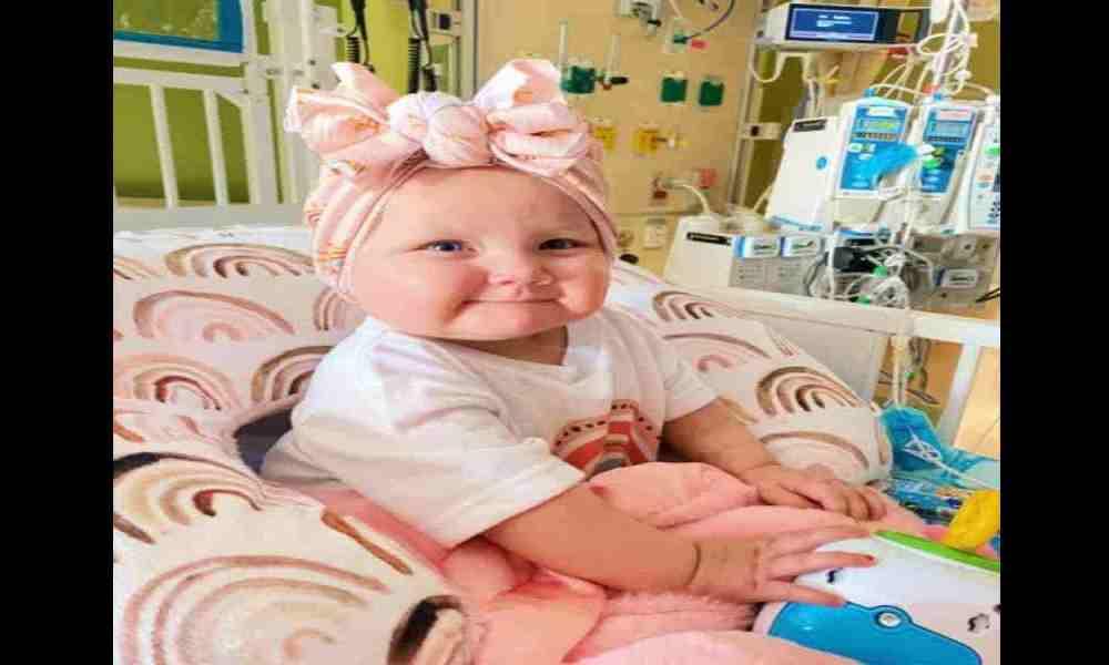 Bebé Charley necesita oraciones para sobrevivir al cáncer en etapa 3