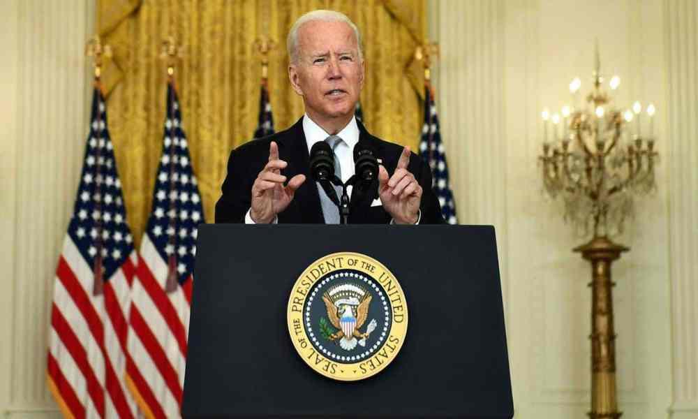 Biden advierte a Isis-K y dice que sus soldados están inspirados en el libro de Isaías