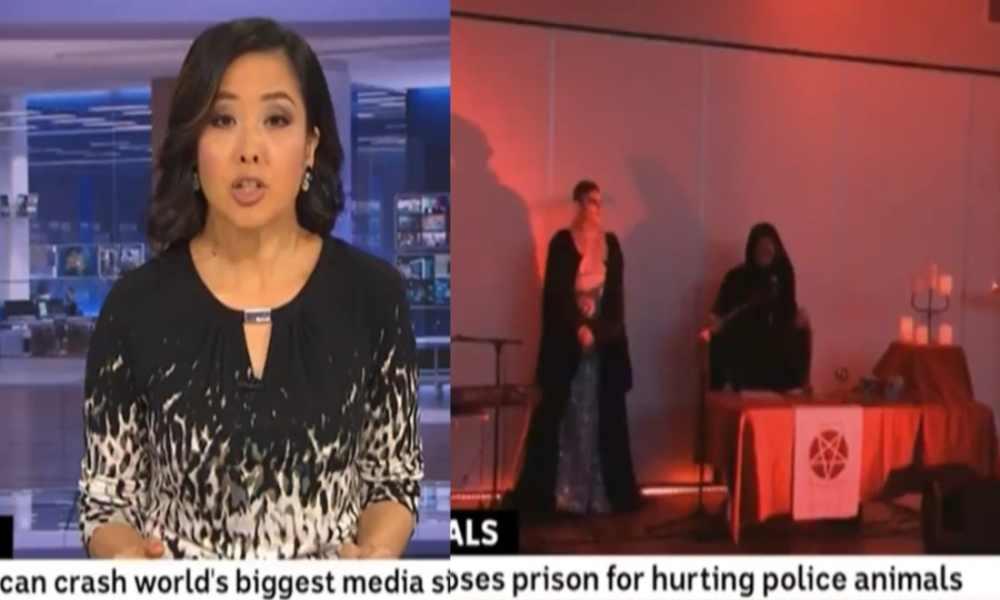 Noticiero australiano muestra por error un rito satánico