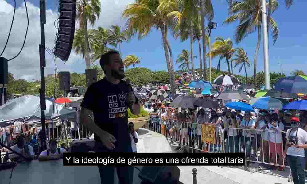 Agustín Laje pronuncia discurso demoledor contra la ideología de género en Puerto Rico