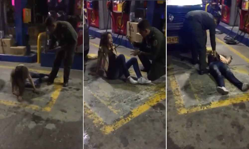 Viral: Policía utiliza rosario para expulsar el demonio de una mujer